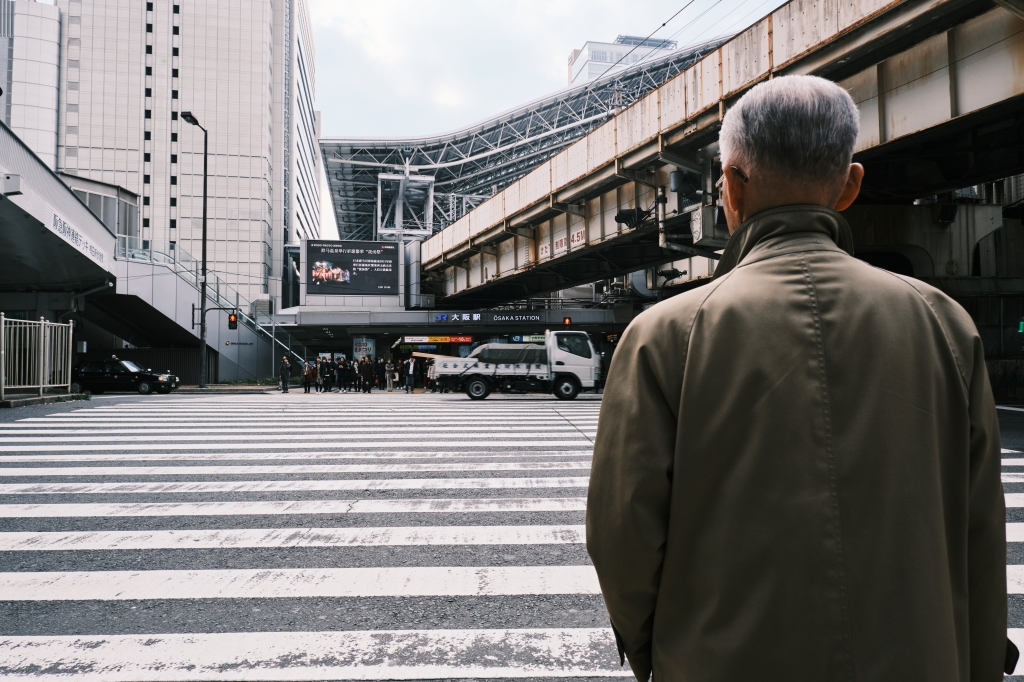 Street photography in Osaka